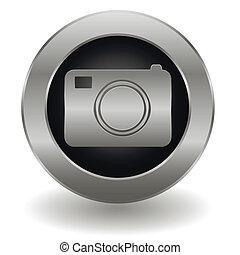 Metallic camera button