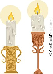 Metallic Candle Holders