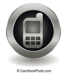 Metallic cell phone button