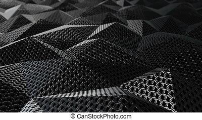 Metallic chain armor geometric background loop