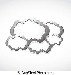 metallic clouds concept background