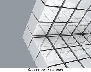 metallic cubes