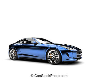 Metallic dark blue modern sports concept car