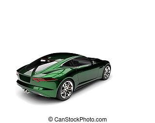 Metallic dark green modern sports concept car