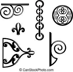 Metallic decorations