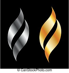 Metallic design elements