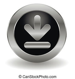 Metallic download button
