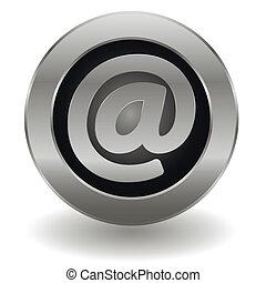 Metallic email button
