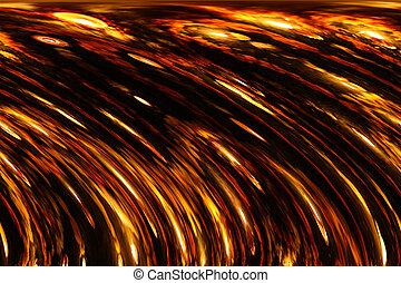 Metallic Firey Background