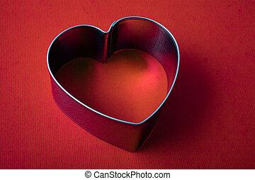 Metallic frame in the shape of heart