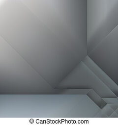 Metallic geometry - Abstract background design with smooth...