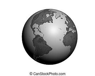 Metallic globe 3D