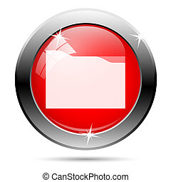 Metallic glossy icon