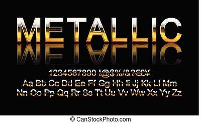 Metallic gold font.