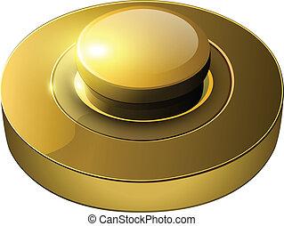 gold web button