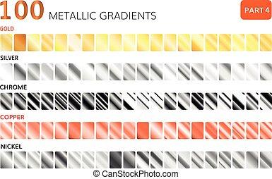 Metallic gradients big set. Golden
