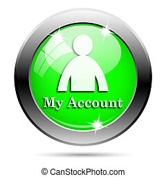 Metallic green glossy icon