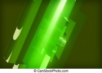 metallic, green, solid