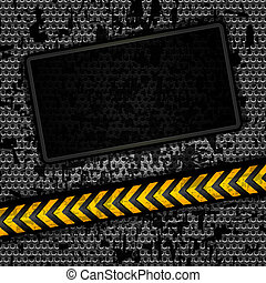 Metallic grunge background template, perforated iron sheet