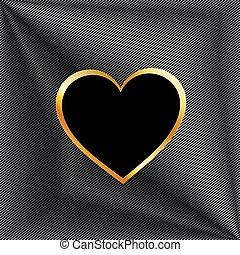 Metallic heart background