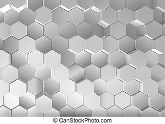 Metallic Hexagonal Background