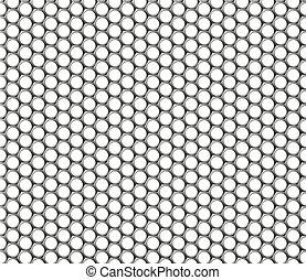 Metallic hexagonal grid realistic seamless