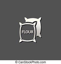 Metallic Icon - Flour sack