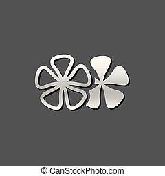 Metallic Icon - Jasmine flowers - Jasmine flowers icon in...