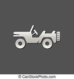 Metallic Icon - Military vehicle