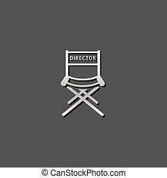 Metallic Icon - Movie director chair