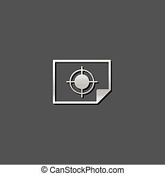 Metallic Icon - Print proof - Print proof icon in metallic...