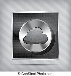 chrome volume knob and cloud