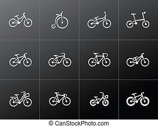 Metallic Icons - Bicycles