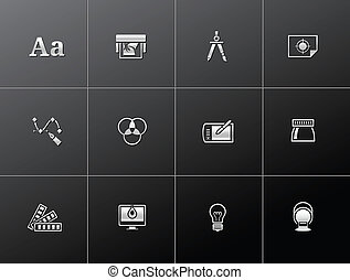 Metallic Icons - Graphic Design