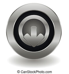 Metallic logout button