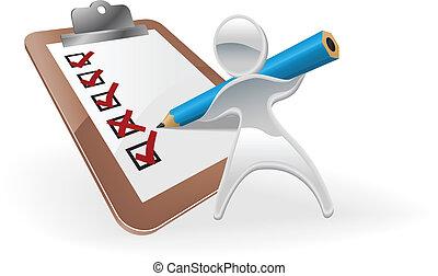 Metallic mascot survey feedback concept - Metallic cartoon...