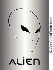 Metallic mask, Alien. Demon, phantom.