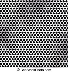 Metallic mesh texture vector background with reflections