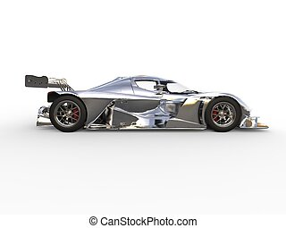 Metallic modern super sports car - side view