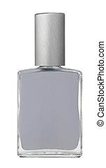 Metallic nail polish on white background