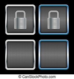 Metallic padlock icons