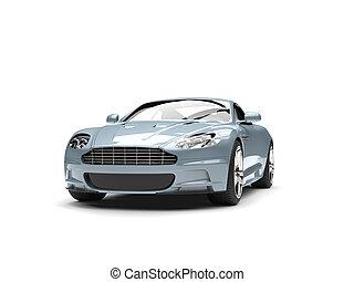 Metallic pastel blue modern sports luxury car