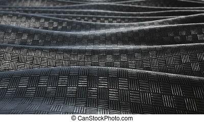 Metallic pattern abstract wave background loop