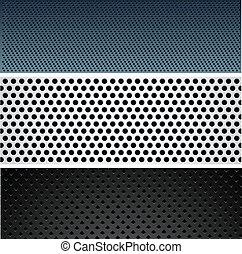 Metallic pattern set.