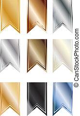 Metallic Pendant Banners - Set of 9 metallic colored pendant...
