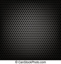 Metallic Perforated Background.