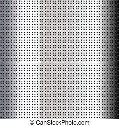 Metallic perforated chromium sheet
