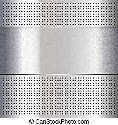 Metallic perforated chromium steel sheet, 10eps