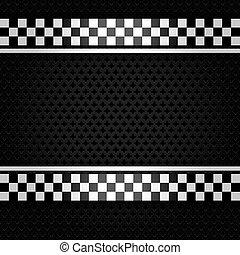 Metallic perforated gray sheet, vector illustration 10eps