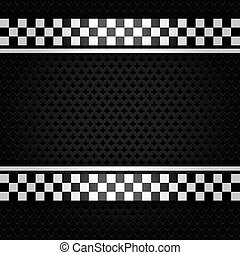 Metallic perforated gray sheet, vector illustration 10eps